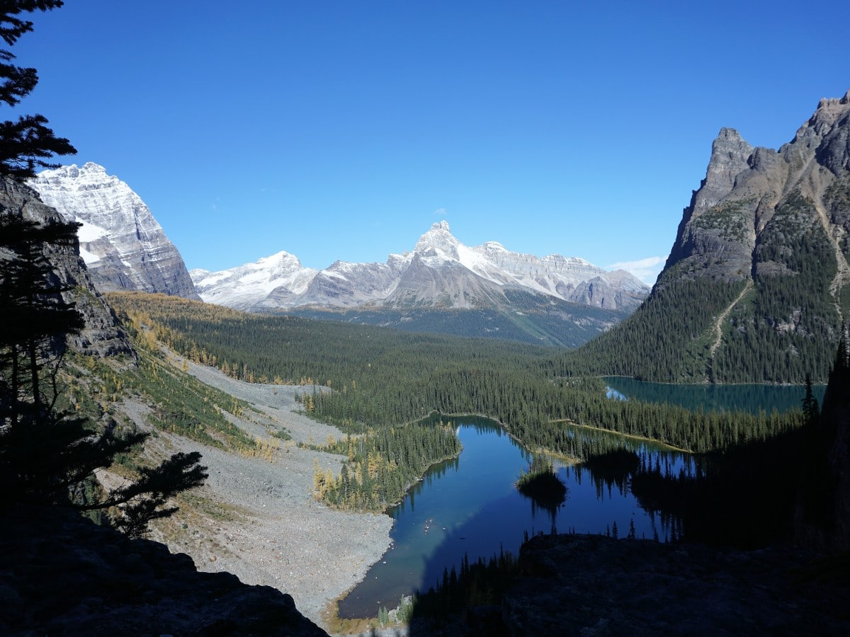 Lake O'Hara All Souls Route Hike in Yoho National Park rewards with beautiful mountain scenery