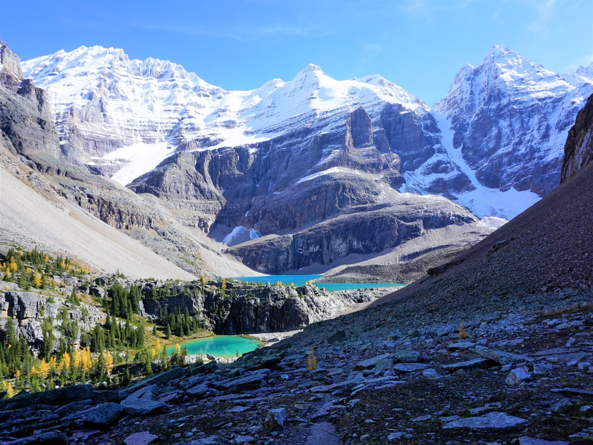 Views of the Lake O'Hara All Souls Route Hike in Yoho National Park, Canada