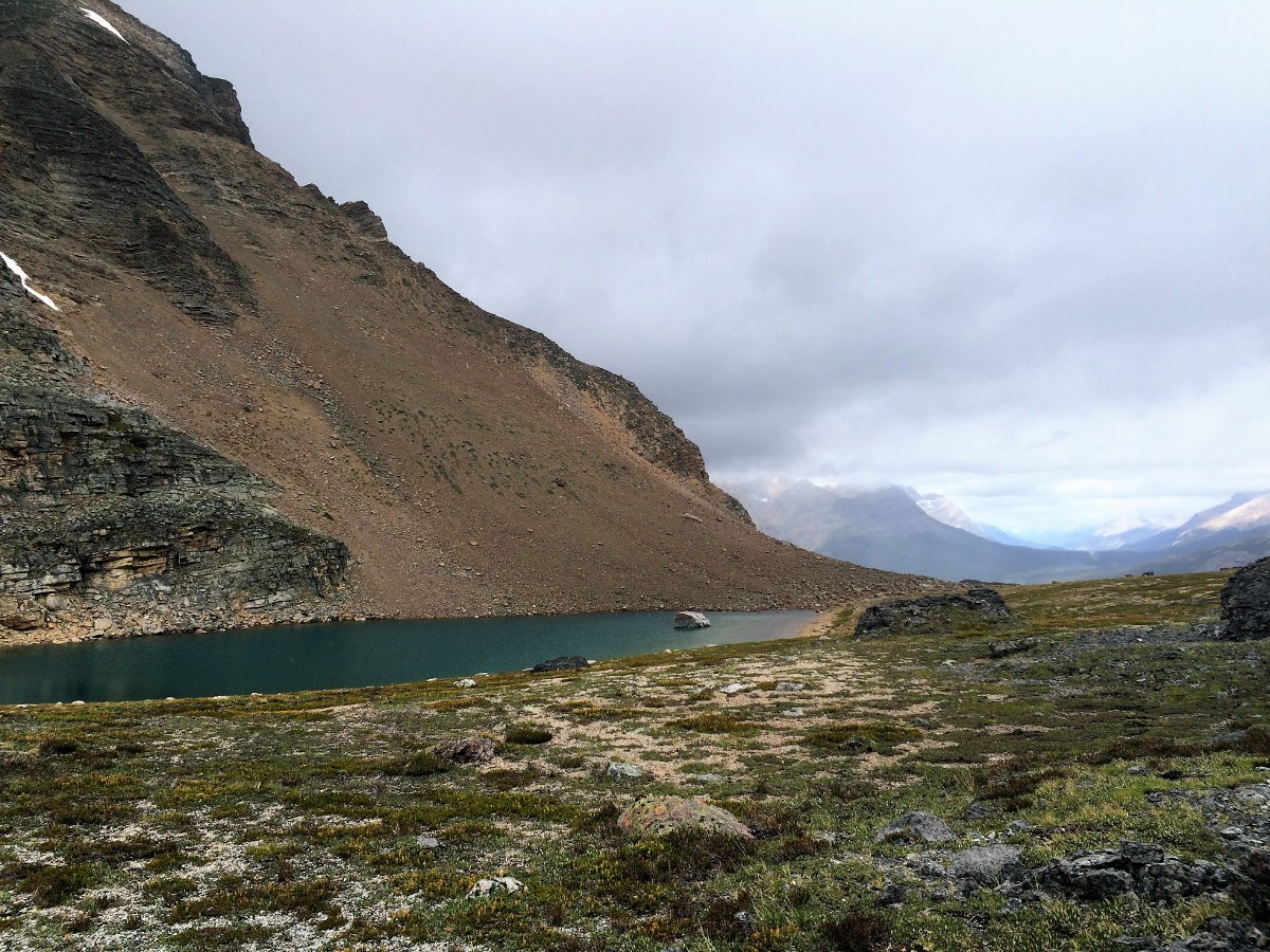One of the tarns on the Crowfoot Pass and Balfour Viewpoint Hike from the Icefields Parkway near Banff National Park