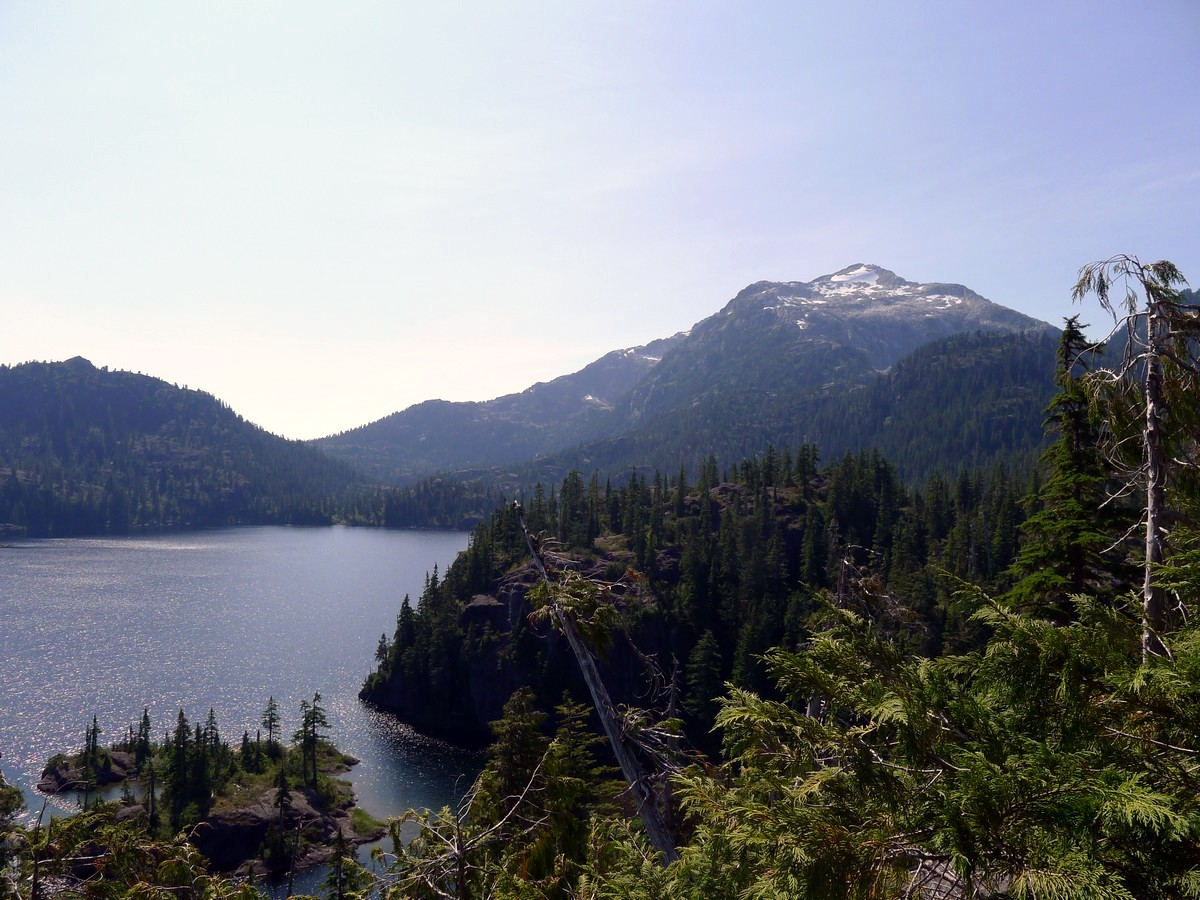 View of the east shoulder of Mt Tom Taylor from the viewpoint on the Bedwell Lake Hike in Strathcona Provincial Park, Canada