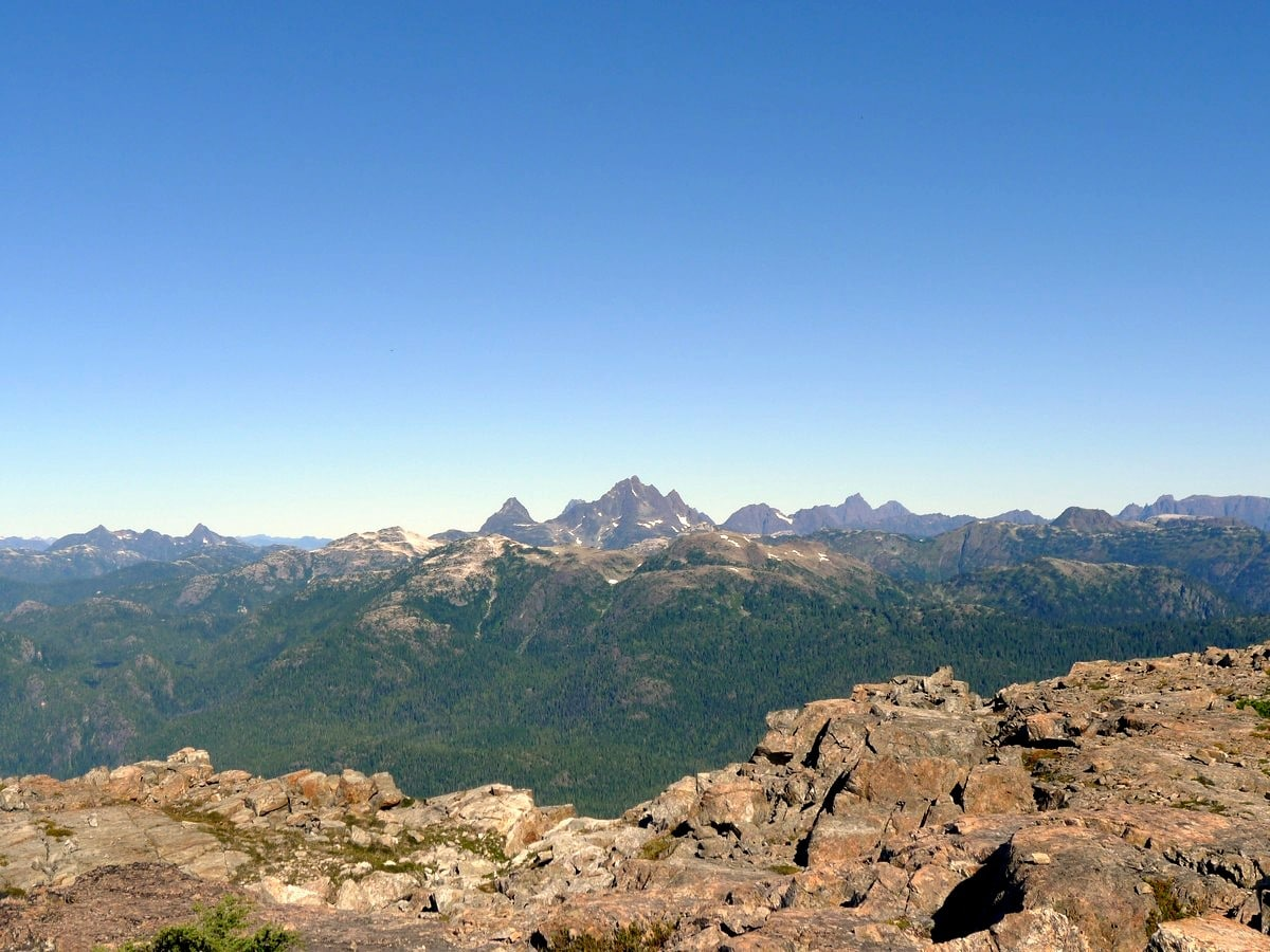 The Golden Hinde view from the Mt Myra Hike in Strathcona Provincial Park, Canada