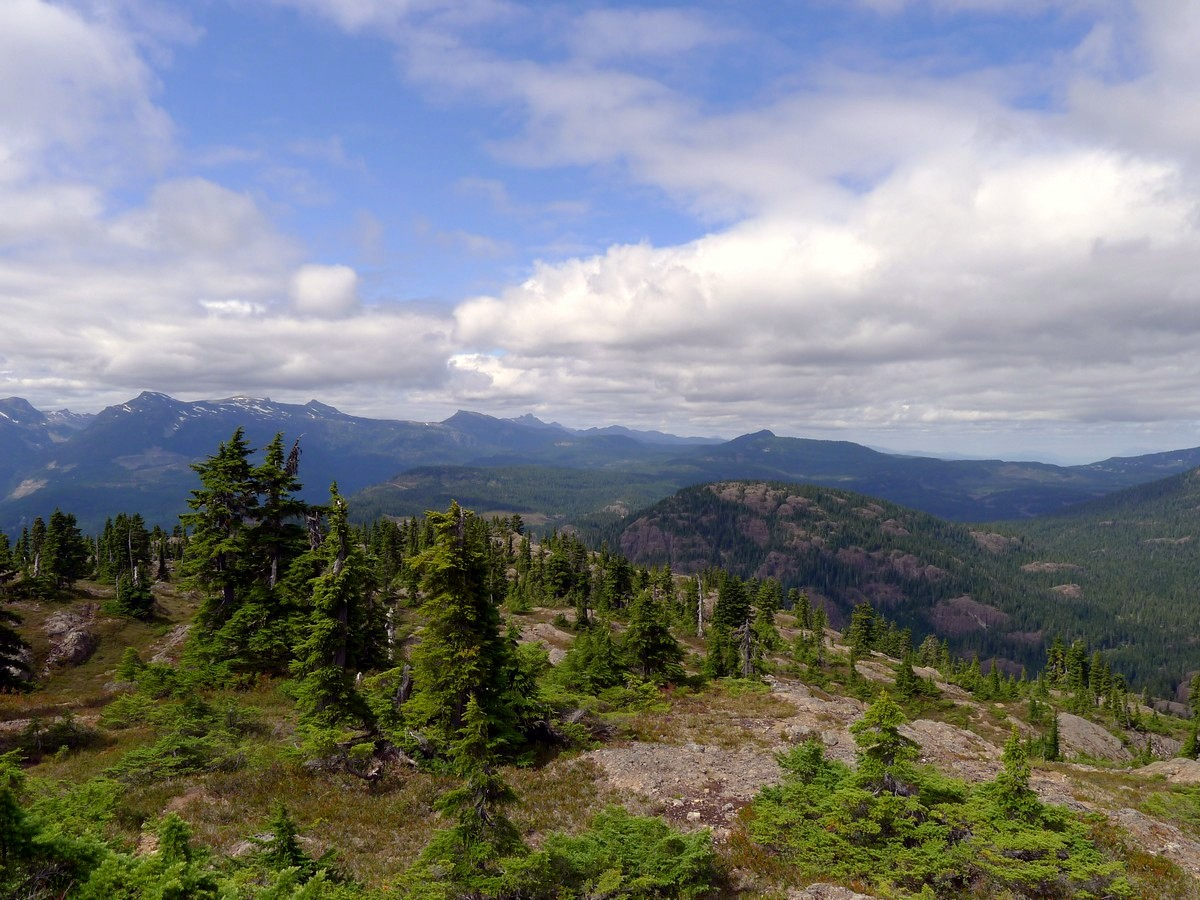 Hills of Cumberland from Mt Becher on Vancouver Island