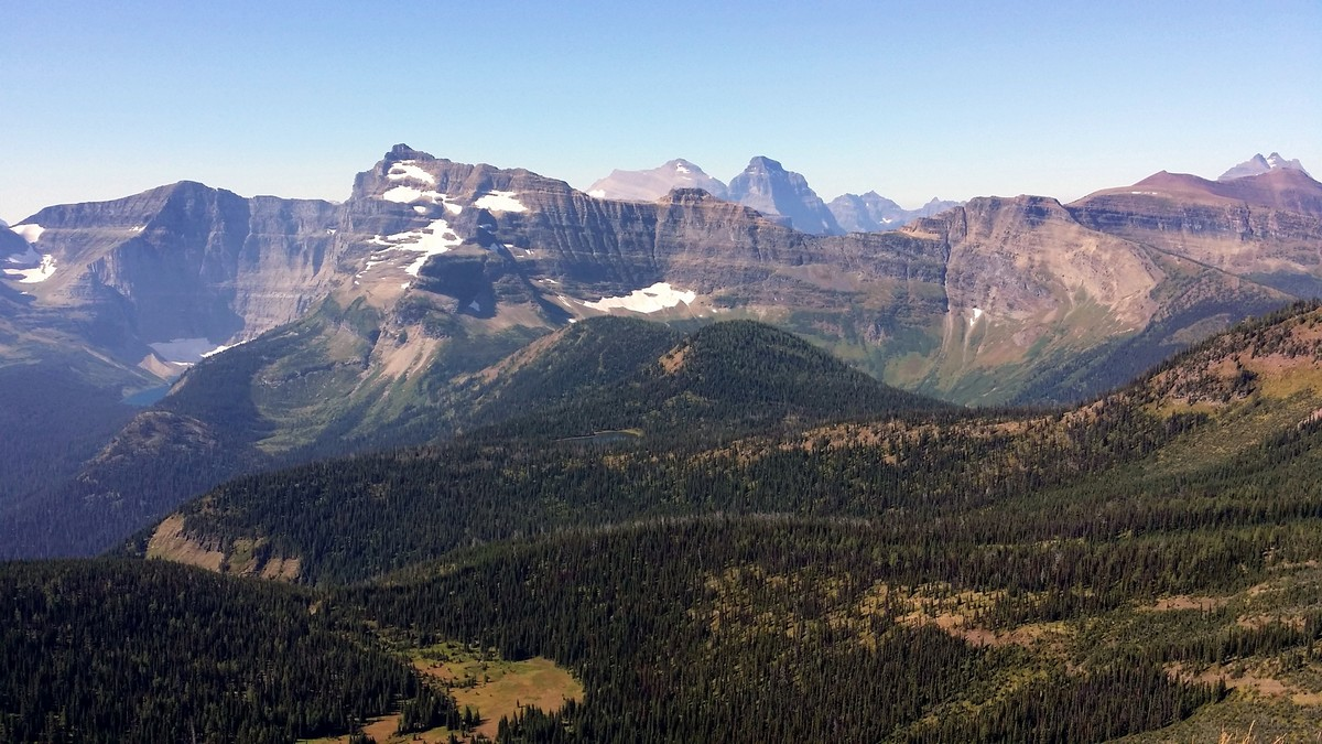 Mount Custer view from the Carthew - Alderson Hike in Waterton Lakes National Park, Canada