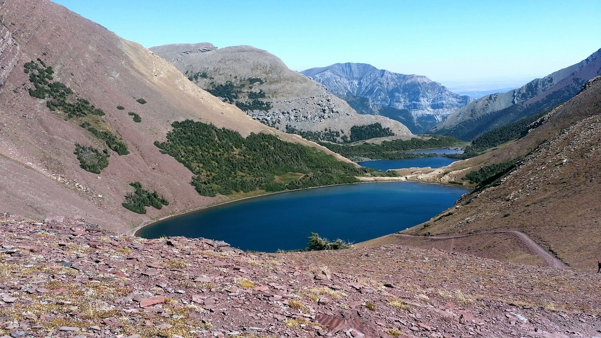 Carthew Lakes on the Carthew - Alderson Hike in Waterton Lakes National Park, Canada
