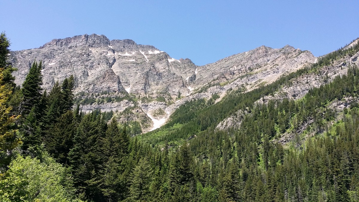 Bertha Peak on the Bertha Lake and Falls Hike in Waterton Lakes National Park, Canada