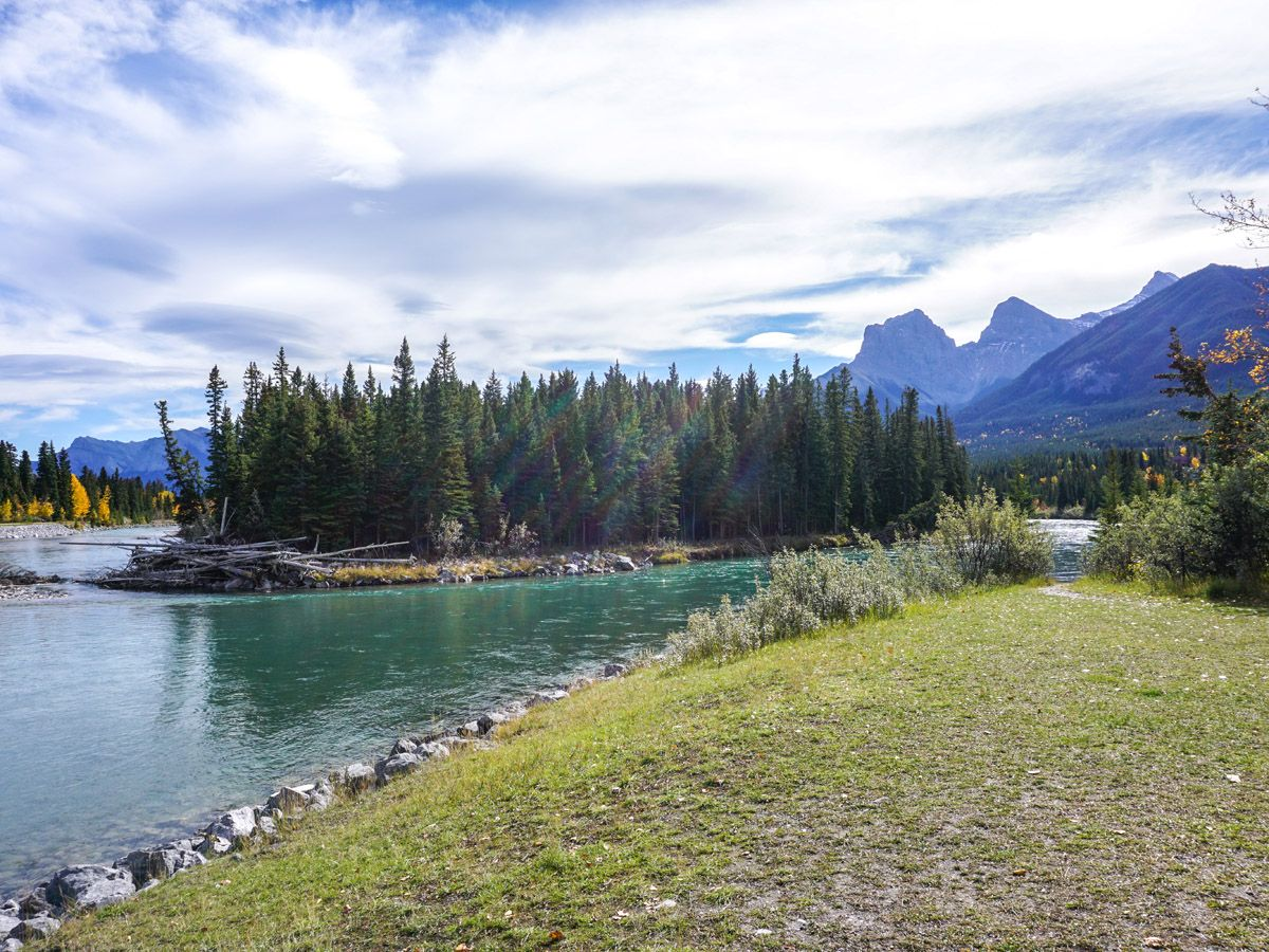 River Island on the Bow River Trail Hike in Canmore, Alberta