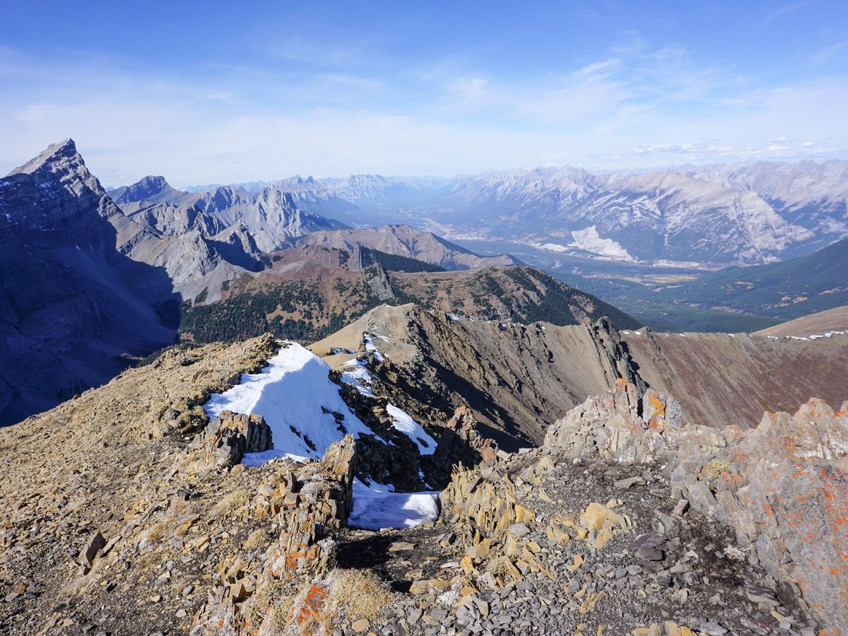 Snow on Centennial Pass and Mount Allan Summit Hike in Canmore