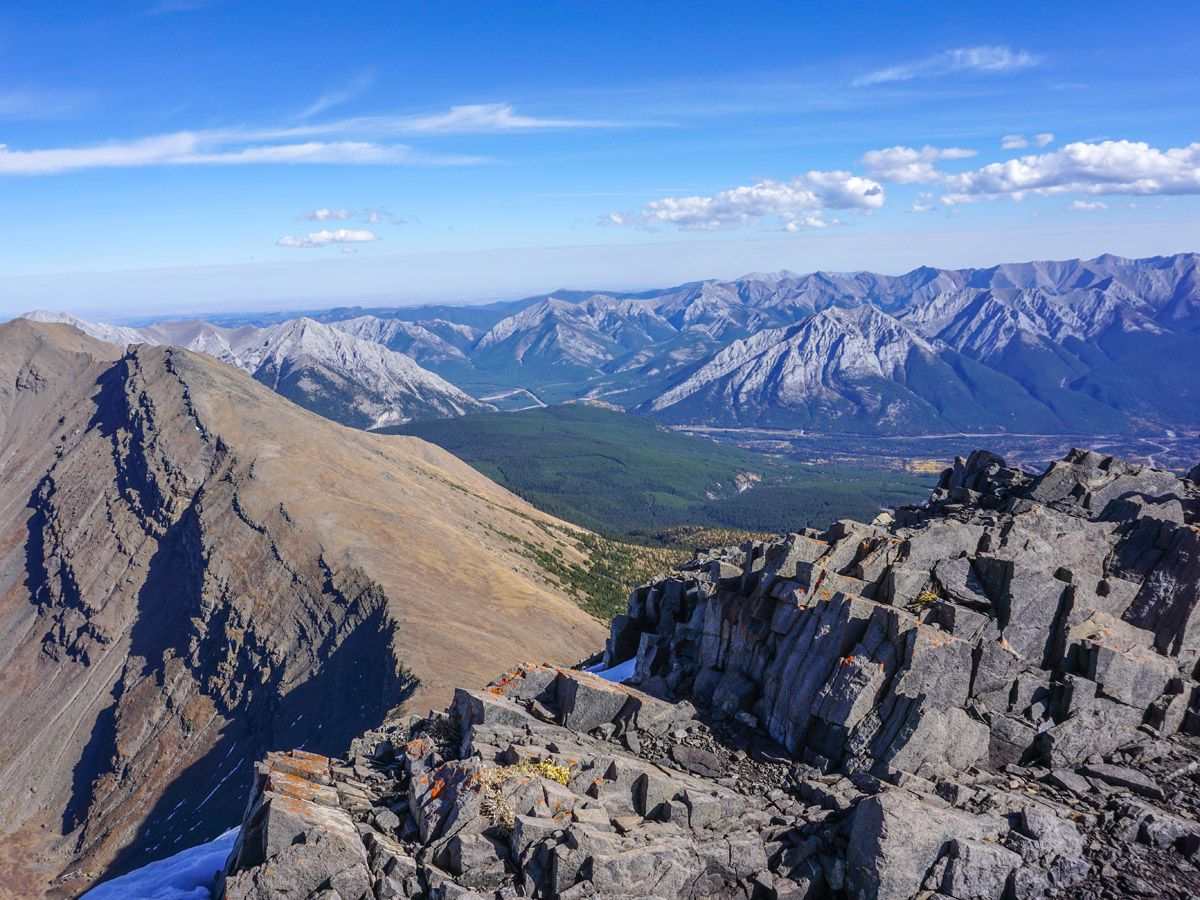 Centennial Pass and Mount Allan Summit Hike in Canmore has great views of the valley