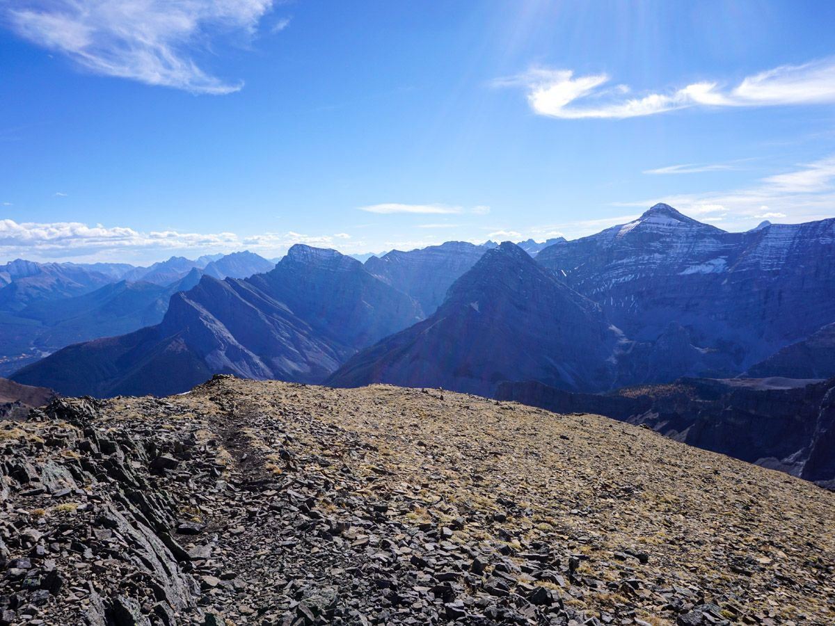 Beautiful mountains on Centennial Pass and Mount Allan Summit Hike in Canmore