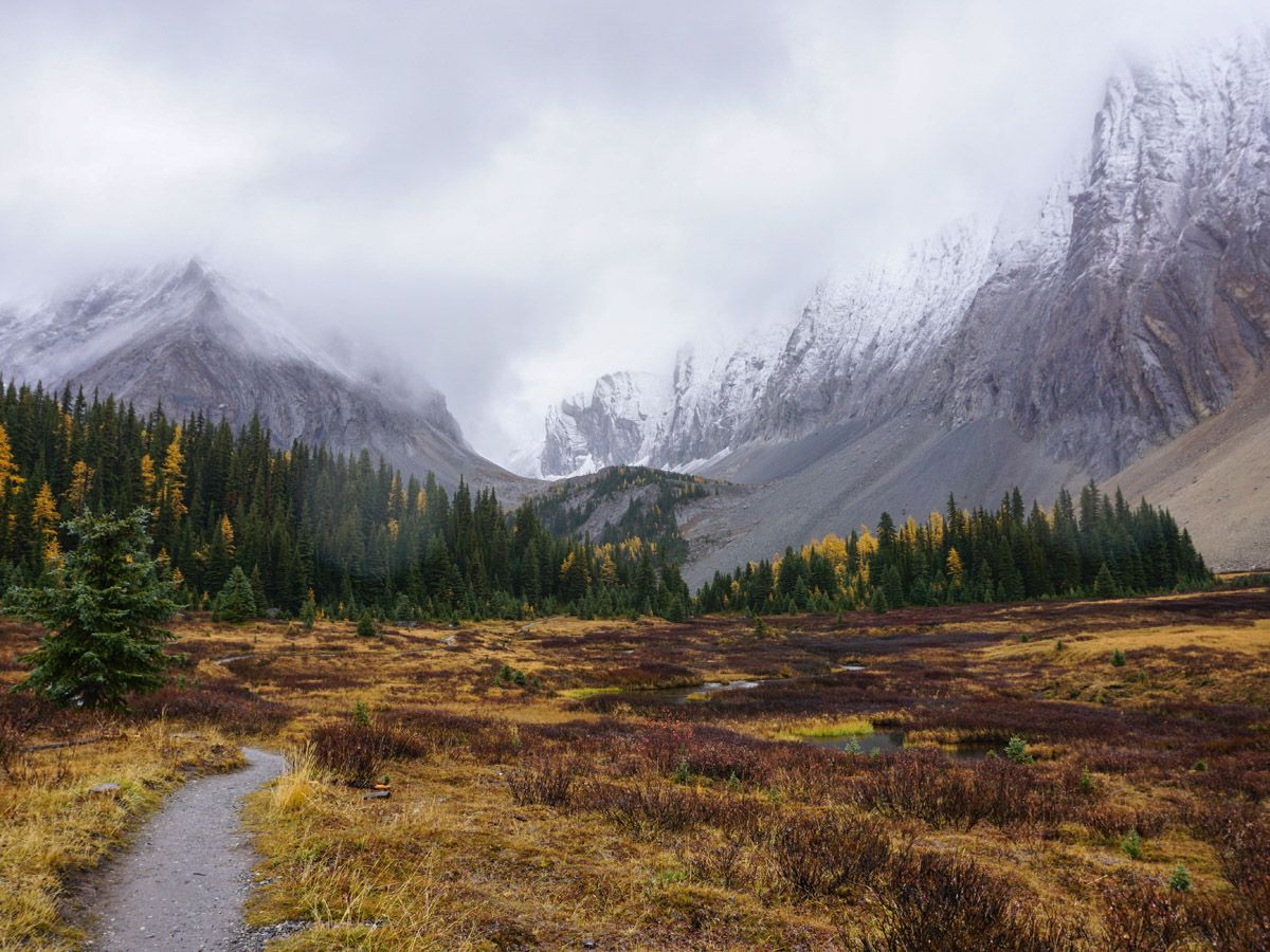 Chester Lake Hike from Smith-Dorrien Trail in Kananaskis surrounded by beautiful mountains