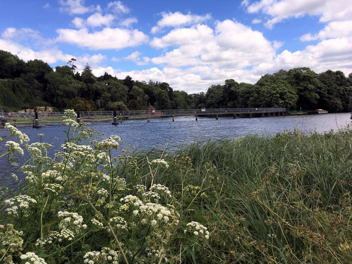 Weirs on the Thames on the Hurley Loop Hike in Chiltern Hills, England
