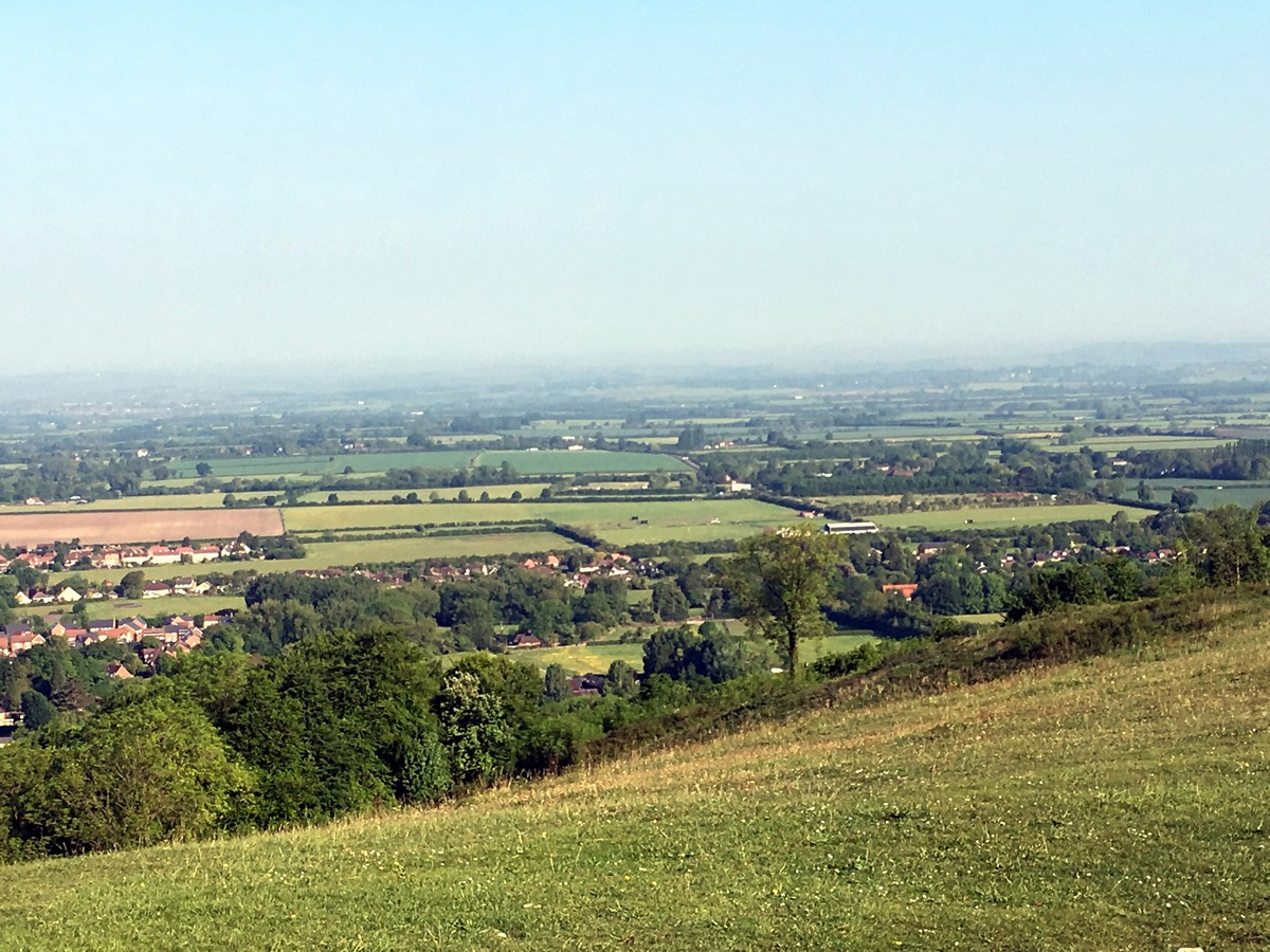 View from Whiteleaf Hill on the Brush Hill & White Leaf Nature Reserve Hike in Chiltern Hills, England