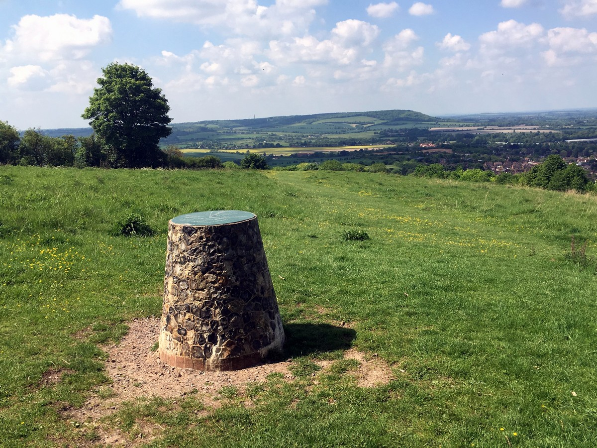 View from Brush Hill on the Brush Hill & White Leaf Nature Reserve Hike in Chiltern Hills, England