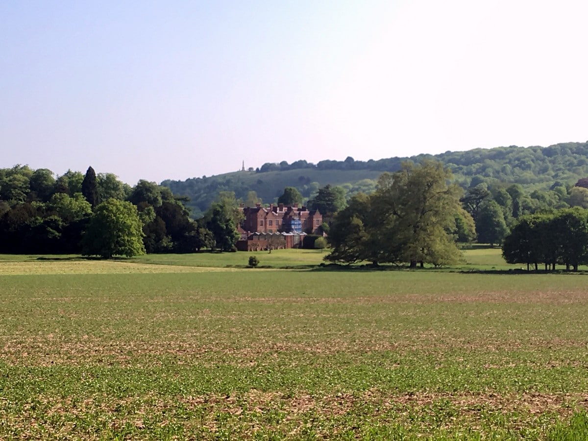 View of the Chequers Estate on the Brush Hill & White Leaf Nature Reserve Hike in Chiltern Hills, England