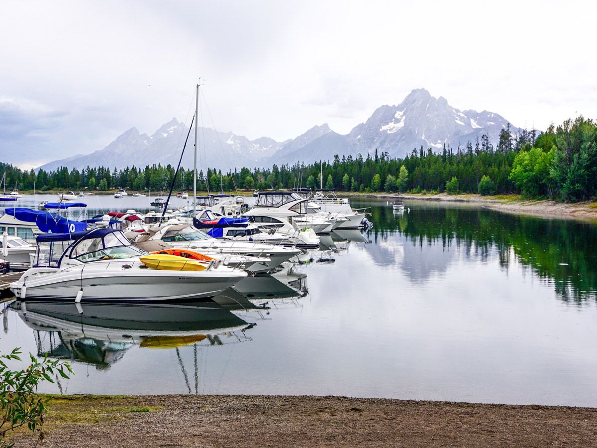 Boats on Colter Bay Hike in Grand Teton National Park