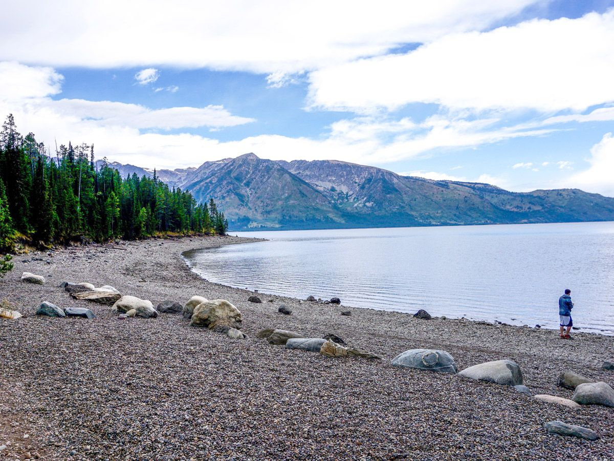 Lakeside on Colter Bay Hike in Grand Teton National Park