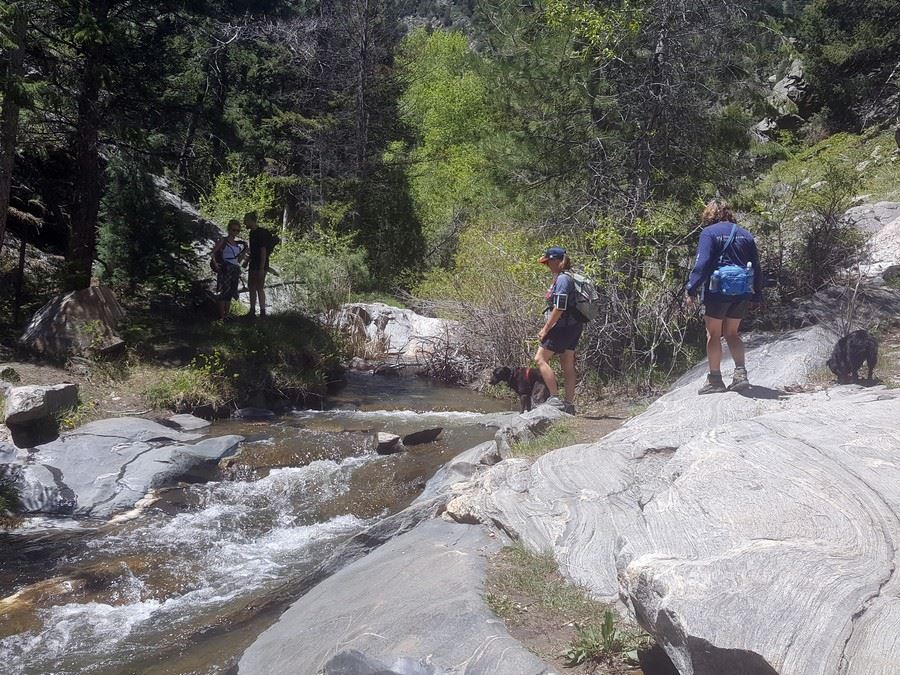 Big creek crossing on the Beaver Brook to Chavez Trail Loop Hike near Denver, Colorado