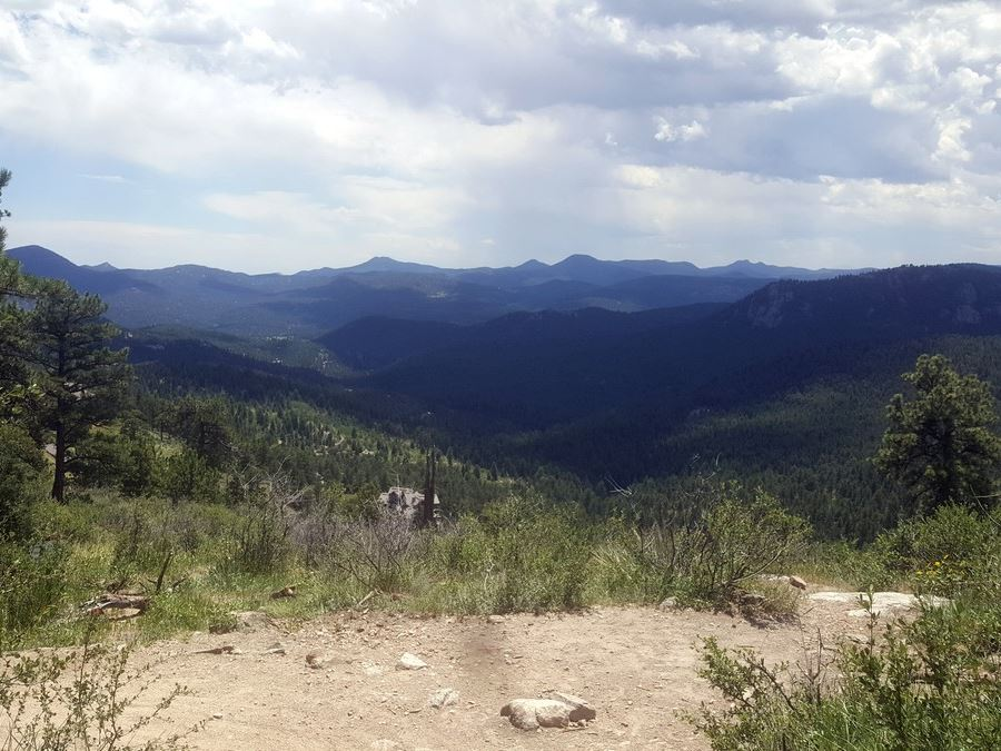 Scenic view from the Elk Meadow Park Hike near Denver, Colorado