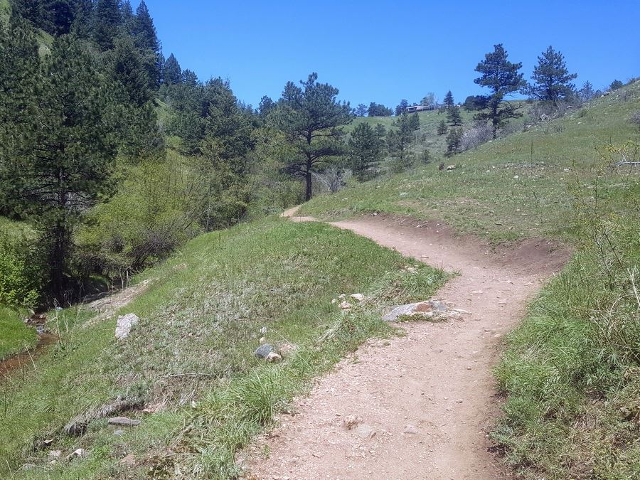 River on the Enchanted Forest Trail Hike near Denver, Colorado