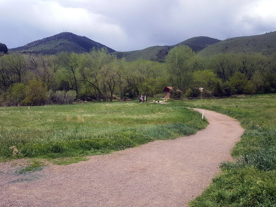 Trailhead view from the Matthew/Winters Park Hike near Denver, Colorado