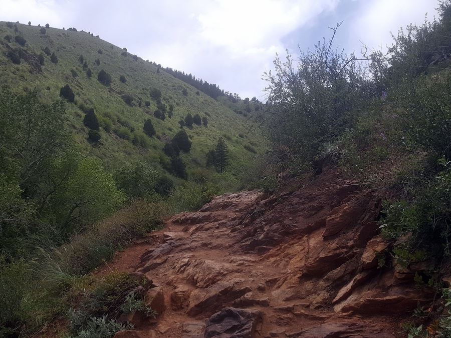Rocky trail of the Matthew/Winters Park Hike near Denver, Colorado