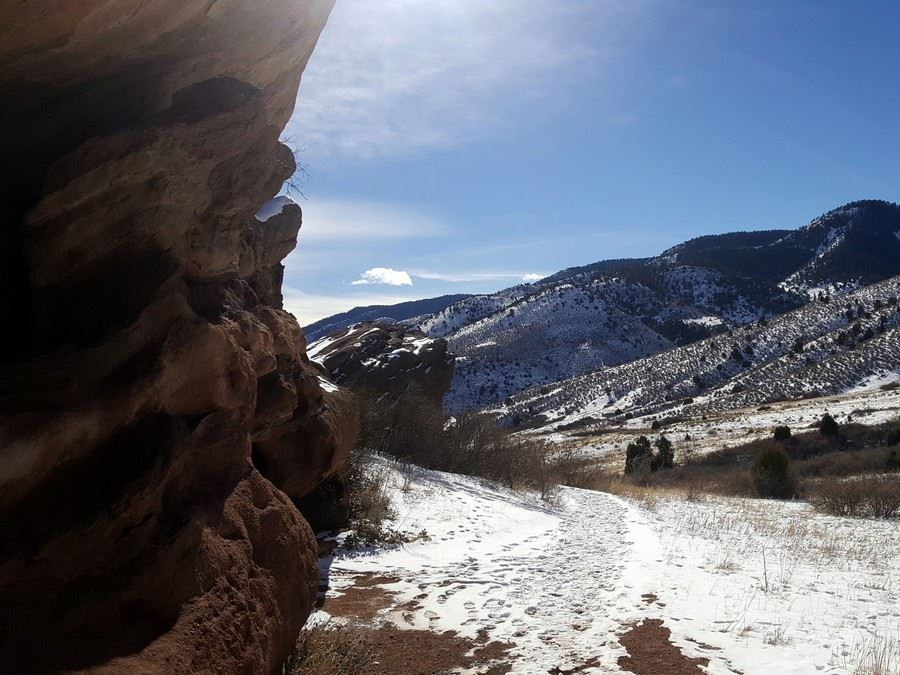 View out from the Red Rocks Park Hike near Denver, Colorado