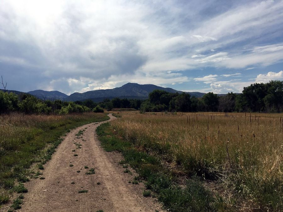 View to the west from the Bear Creek State Park Hike near Denver, Colorado