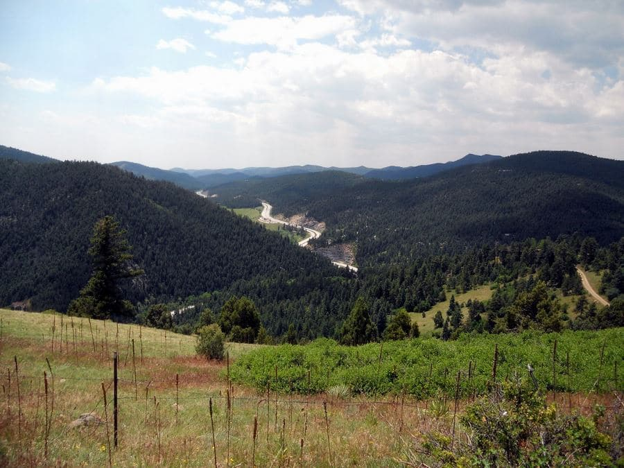 View from Parmalee Circle on the Mount Falcon Park Hike near Denver, Colorado