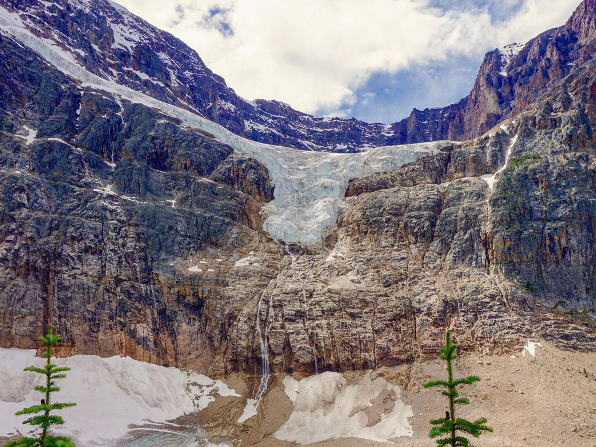 Beautiful glacier on Cavell Meadows Hike in Jasper National Park