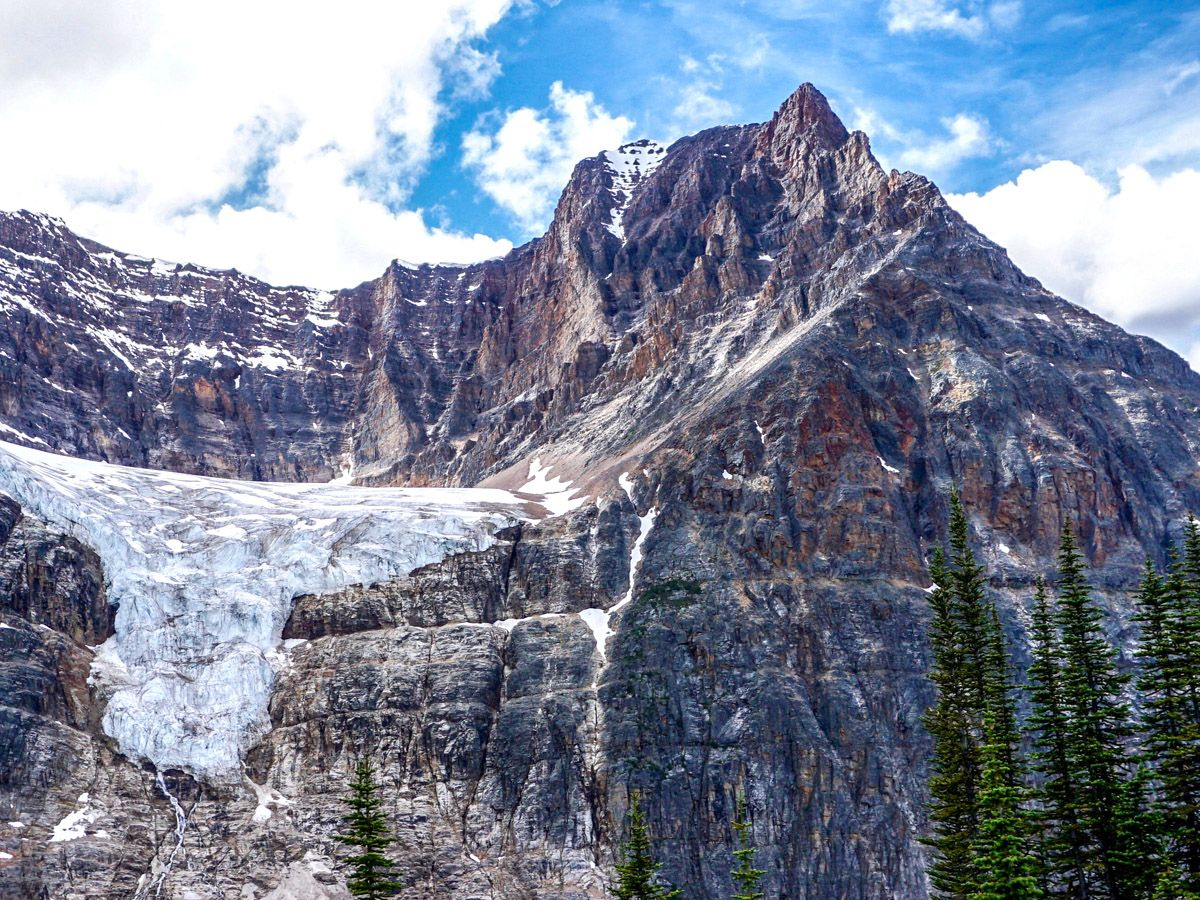 Amazing mountain view on Cavell Meadows Hike in Jasper National Park