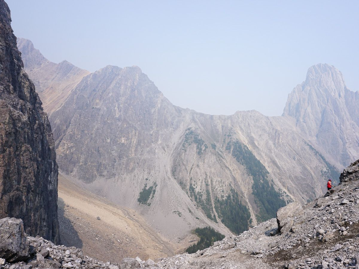 Beautiful views from the Edith and Cory Pass Circuit Hike in Banff, Alberta