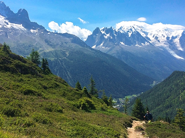 Trail of the Aiguilletteis des Posettes hike in Chamonix, France