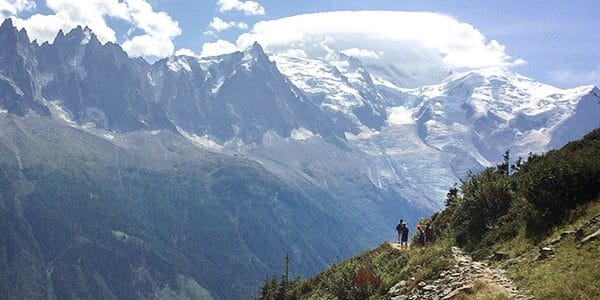 Scenery from the Grand Balcon Sud hike near Chamonix, France