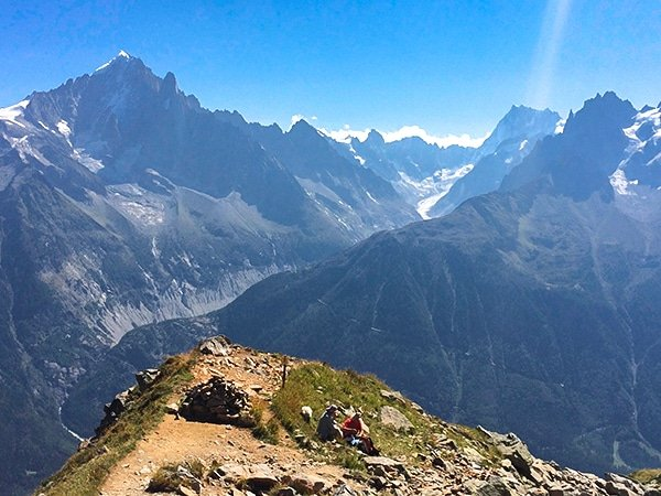Trail of the Lac Cornu hike near Chamonix, France