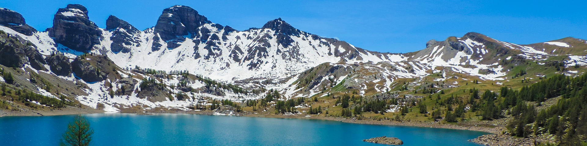 Panorama from the Lac d'Allos hike in Mercantour National Park, France