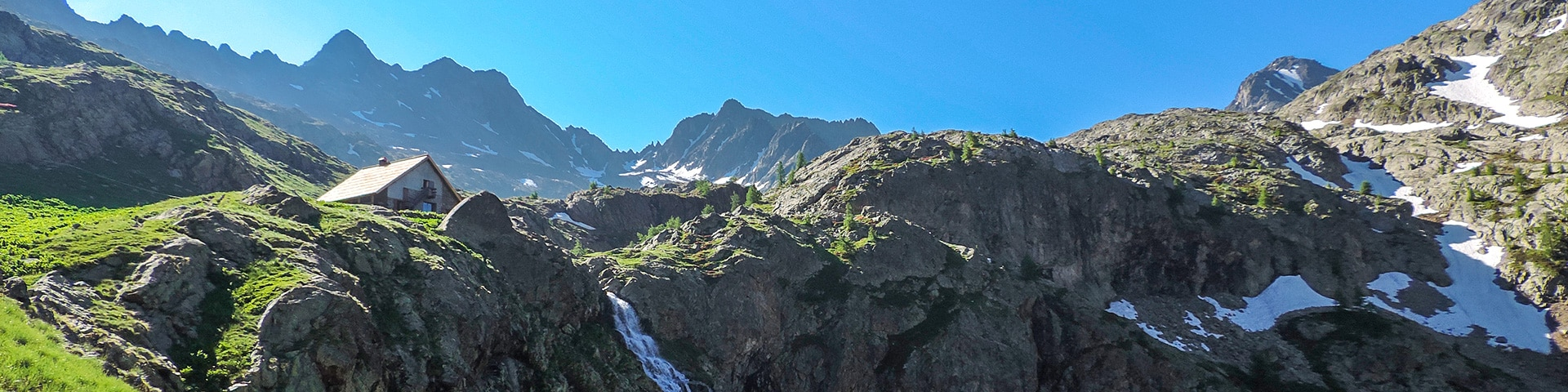 Panorama from the Lacs de Vens hike in Mercantour National Park, France''