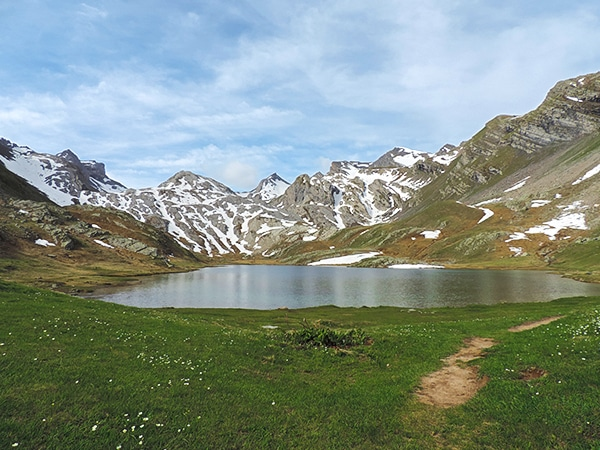 Trail of the Lauzanier hike in Mercantour National Park, France''