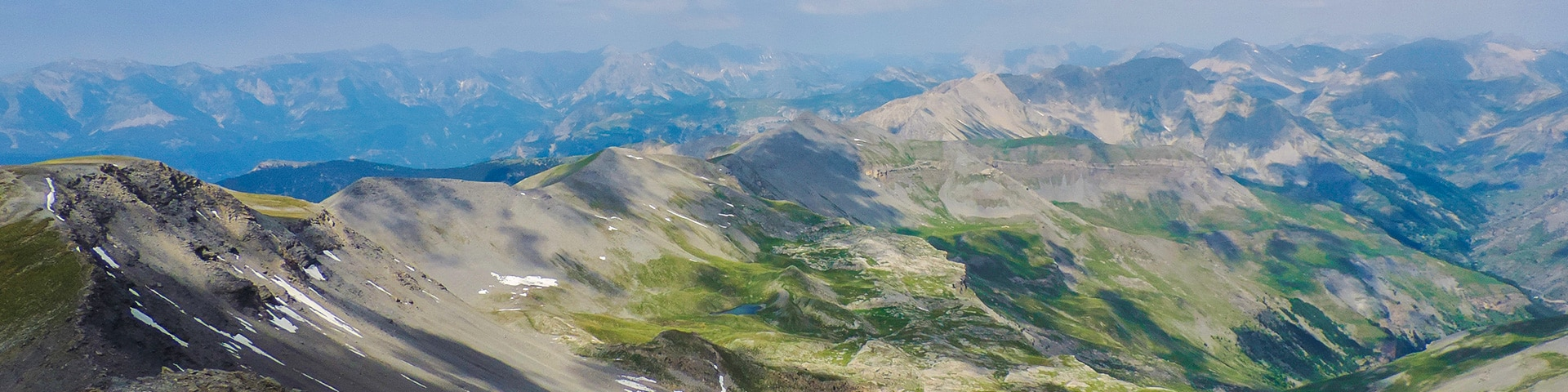 Panorama of the Mount Mounier hike in Mercantour National Park, France''