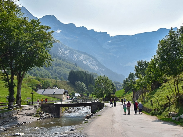 Scenery from the Cirque de Gavarnie hike in French Pyrenees