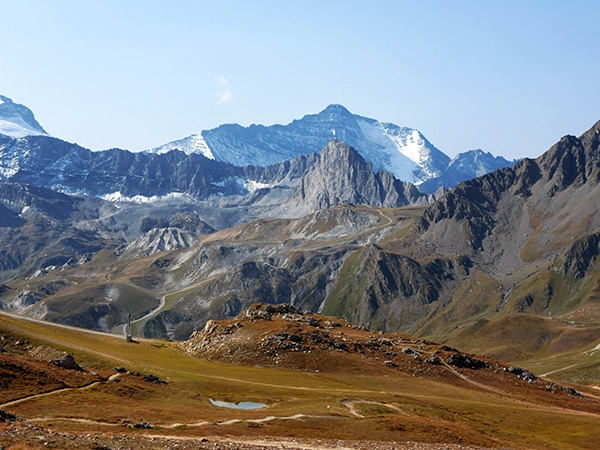 Scenery from the Aiguille Percée hike in Vanoise National Park, France