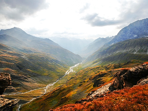 Scenery from the Col de la Lose hike in Vanoise National Park, France
