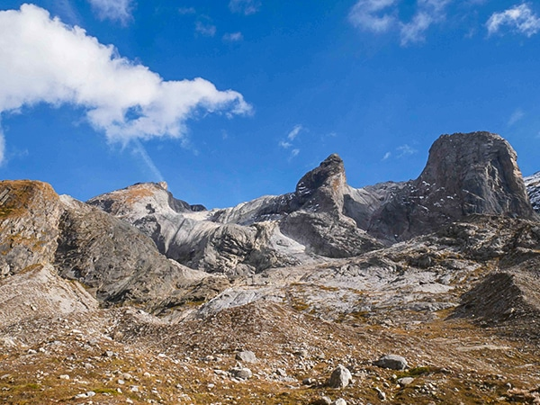 Scenery from the Lac des Vaches hike in Vanoise National Park, France