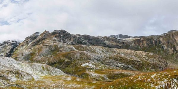 Panorama of the Refuge du Fond des Fours hike in Vanoise National Park, France