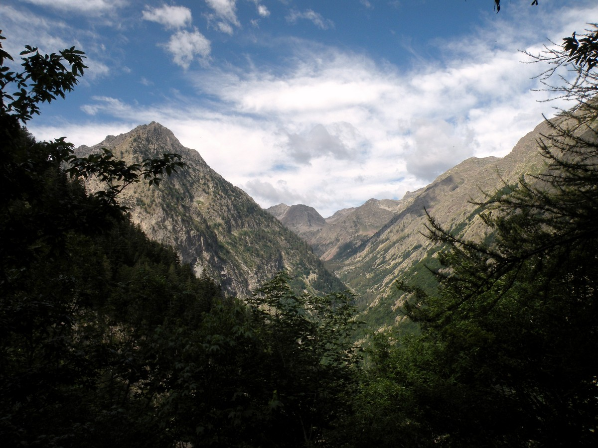 The Velasco Valley view from the Lagarot di Lourousa Hike in Alpi Marittime National Park, Italy