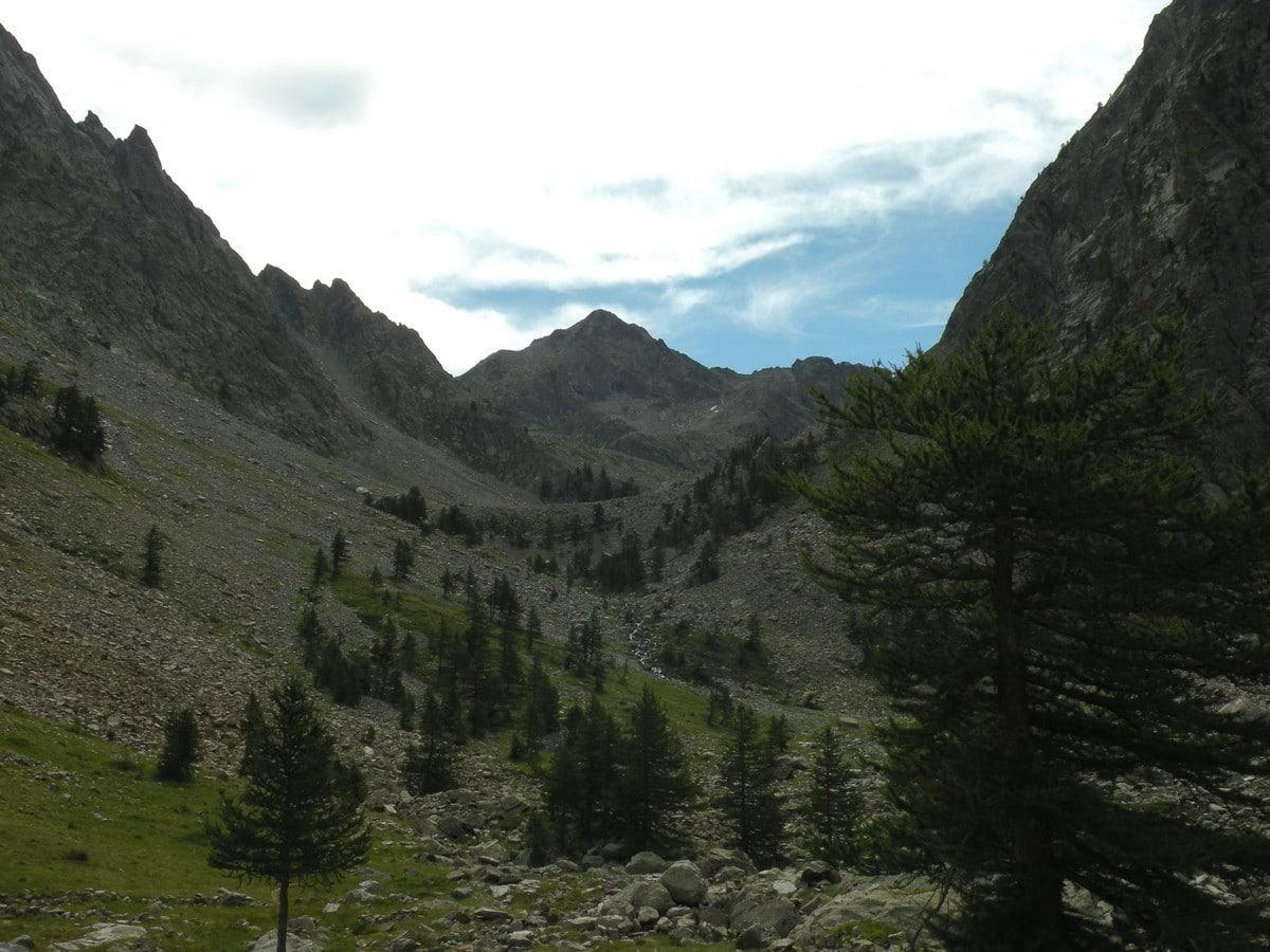 Looking towards the valley from the Lagarot di Lourousa Hike in Alpi Marittime National Park, Italy