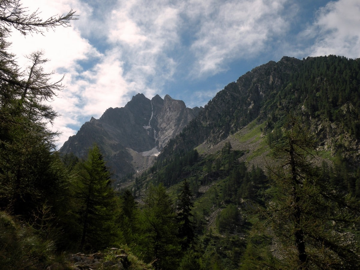 The Monte Stella from the path of the Lagarot di Lourousa Hike in Alpi Marittime National Park, Italy