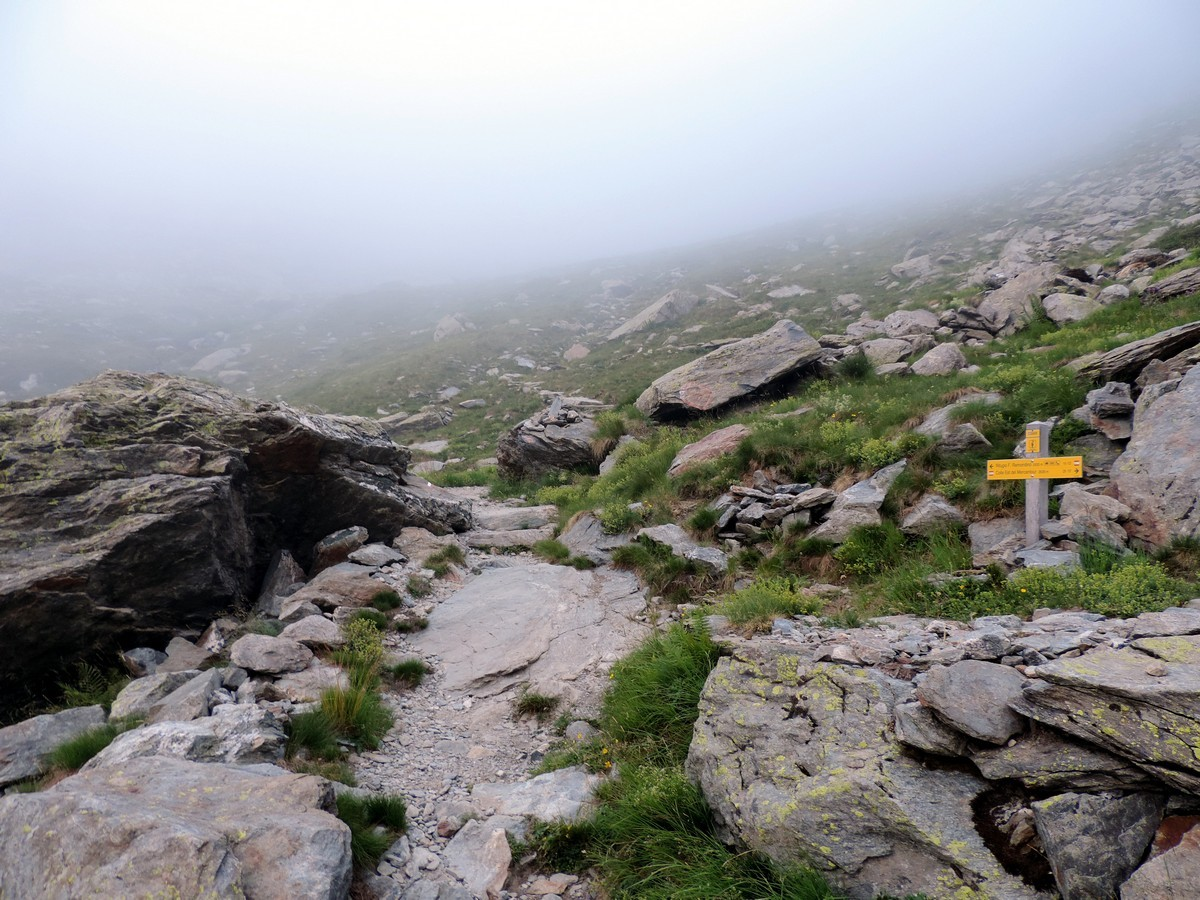 The path to the refuge on the Rifugio Remondino Hike in Alpi Marittime National Park, Italy