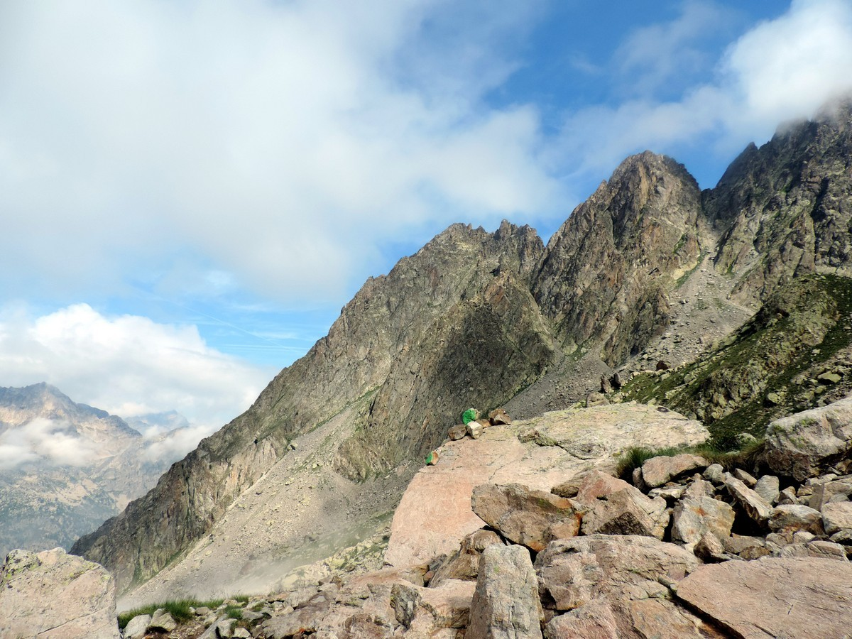 The Gran Madre crest from the Rifugio Remondino Hike in Alpi Marittime National Park, Italy