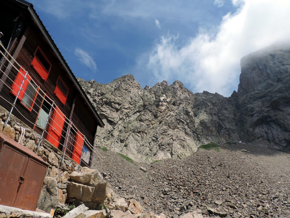 The Corno Stella from the hut on the Vallone Argentera Hike in Alpi Marittime National Park, Italy