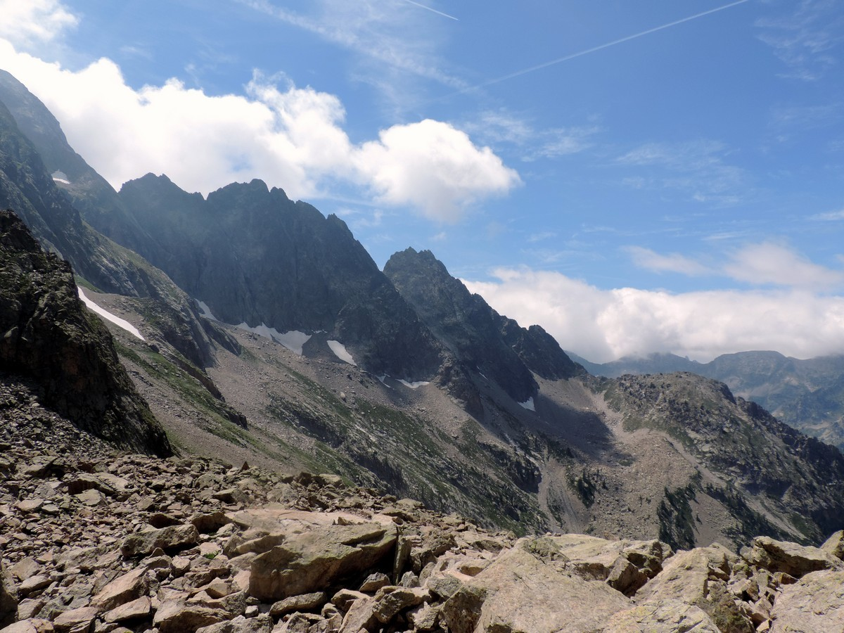 View from the hut on the Vallone Argentera Hike in Alpi Marittime National Park, Italy